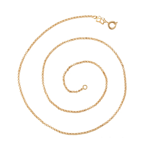 44307 xuping simple design dainty light weight gold chains necklace with spring button
