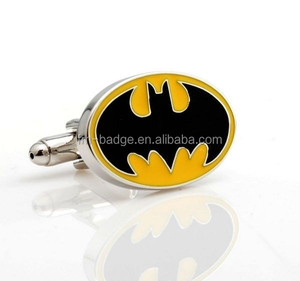 China factory OEM cheap priceNovelty , classic , batman cufflinks, silver batty cuff link, bespoke/custom make your own logo