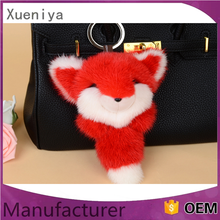 Plush mini stuffed animal shaped keychains cute fox keychains