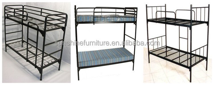 China Factory Military army Single Size Metal Iron Bunk Bed Frame
