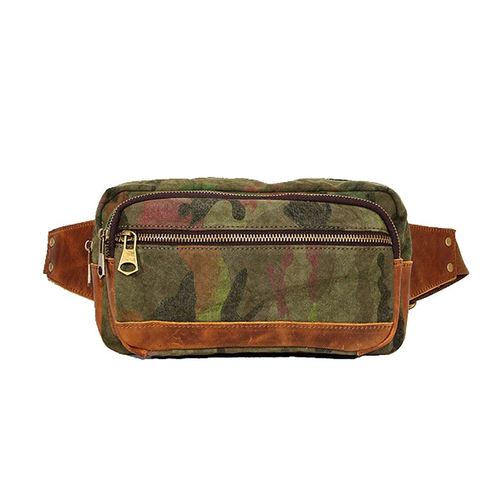 Paonies Unisex Men Lady Waist Pack Bum Bag Canvas Printed Bags Belt Bags Travel Money Holiday Sports