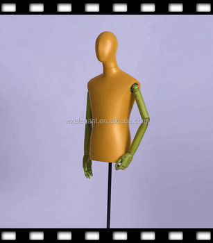 Cheap Male Mannequin For Sale With Mirror Base In Black Half Bod
