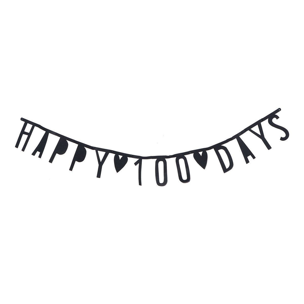 Tinksky Happy 100 Days Letter Pattern Banner Party Decor Bunting Banner Party Garland Banner baby birthday banner baby shower party favors