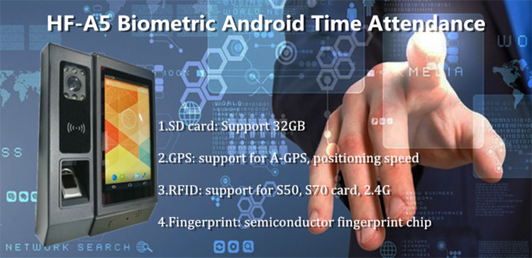 (HF-A5) SDK free WEB Android Wifi Fingerprint Biometric Attendance Machine,  View biometric attendance machine, HFSECURITY Product Details from