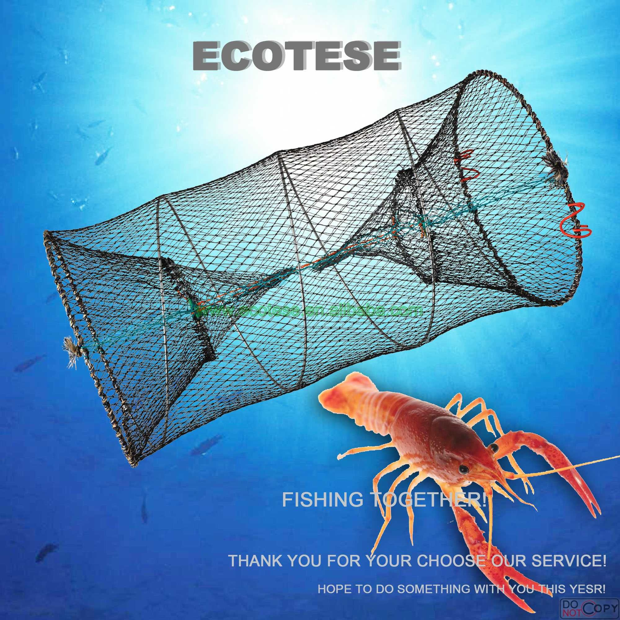 Large Fishing Net Fish Crab Yabbie Trap Minnow Crawfish Shrimp Cage Foldable