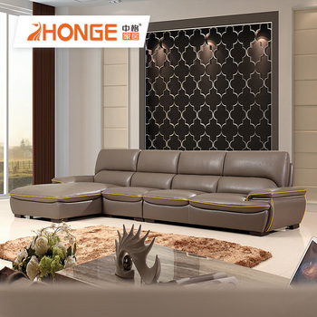 Drawing Room Home Corner L Shaped Couch Modern Leather Brown Color Sofa -  Buy Corner Leather Sofa,Leather Sofa,Sofa Leather Sectional L Shaped Couch  ...
