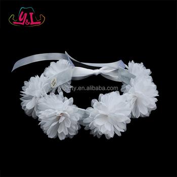 Wedding white flower tiara headband led flower crown buy led wedding white flower tiara headband led flower crown mightylinksfo
