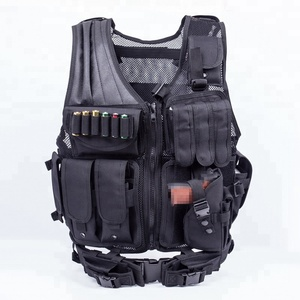 Breathable Tactical Vest Military with Numerous Pouches Combat Training Vest Adjustable for Adults Suitable for Special Mission