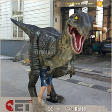 CET-H2 Light Weight Adult Robotic Walking Blue Raptor Realistic Dinosaur Costume For sale