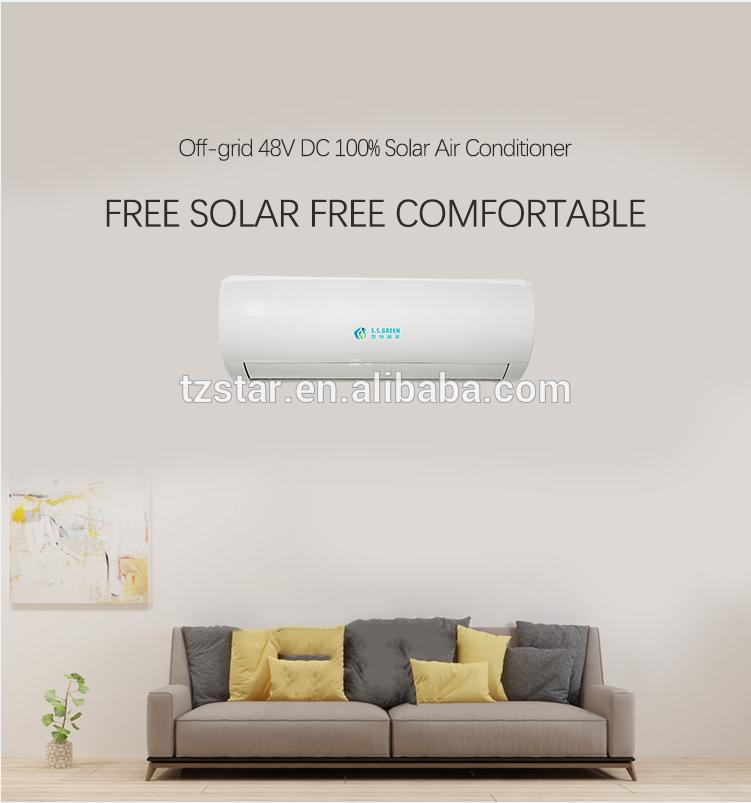 24000BTU Wall Split 100% Solar air conditioner,48V DC Solar air conditioner,2 ton Solar powered air conditioner price