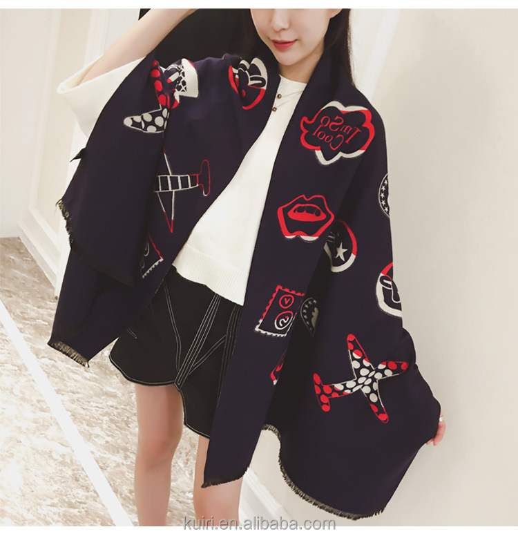 Sweet Style Plush Thickening Warm Scarf Curling Imitation Cashmere Shawl 2016 Hot Sale