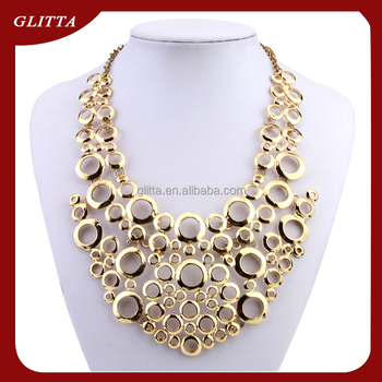 2015 New Collar Necklace Indian Bridal Gold Jewellery Necklace