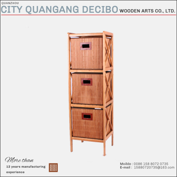 Superbe 2017 Wholesale 3 Drawers Design Portable Clothes Wooden Bedroom Bamboo  Storage Cabinet