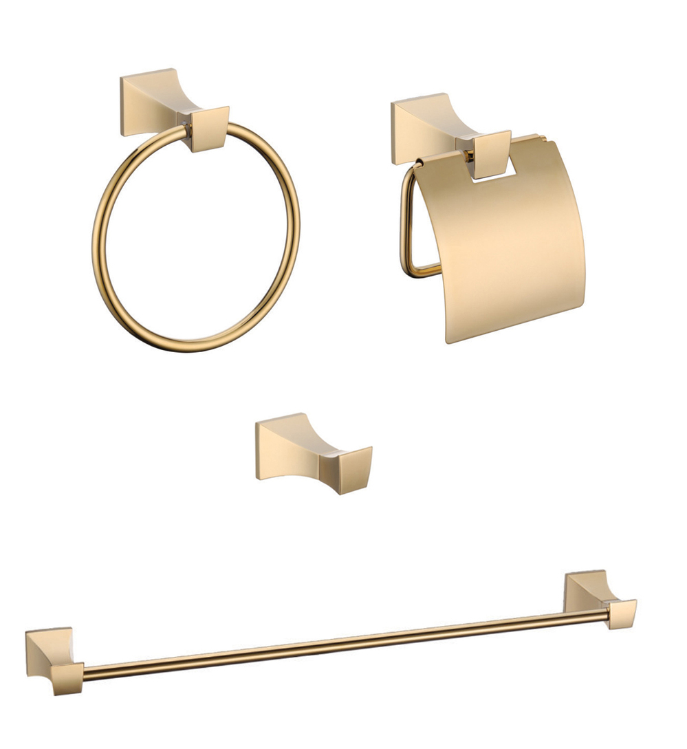 Golden plated finishes Bathroom accessory set