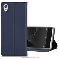 PU Leather Flip Wallet Case Kick-stan Card / Cash Slot ] with Rubberized PC Cover for Sony Xperia XA1/ XZ Premium/XA1 Ultra