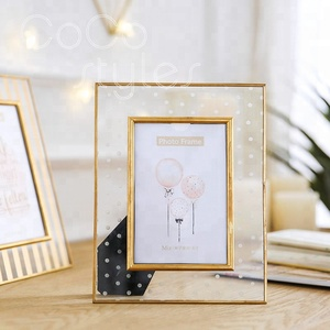 Cocostyles custom luxury clear glass metal photo frame wholesale for home decor