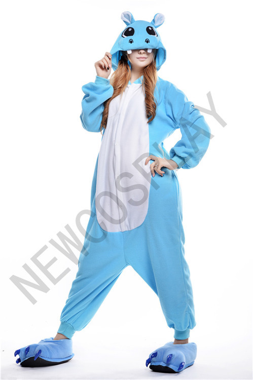 Get Quotations · Free shipping 2014 Hot Selling Animal Onesies Jumpsuit  Pajamas Anime Hoodies Costume Sleepwear Hippo 5d5fa2dbf