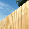 wooden dog ear fence