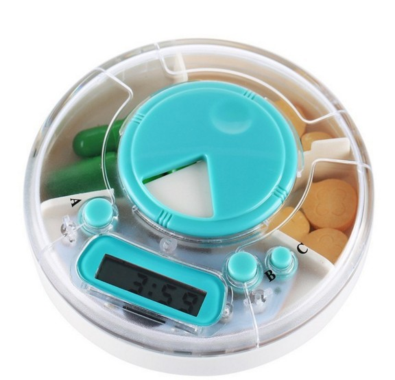 Portable to remind you when to take medicines with alarm timer timer medicine box Pill reminder