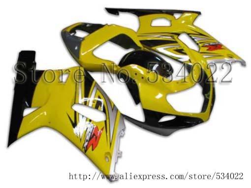 GSXR600 2001 2003 750 2002 Body Kit Fairing Bodywork for Suzuki yellow  black GSXR 600 01 02 GSXR 750 03 GSXR-600 01-03 GSXR-750