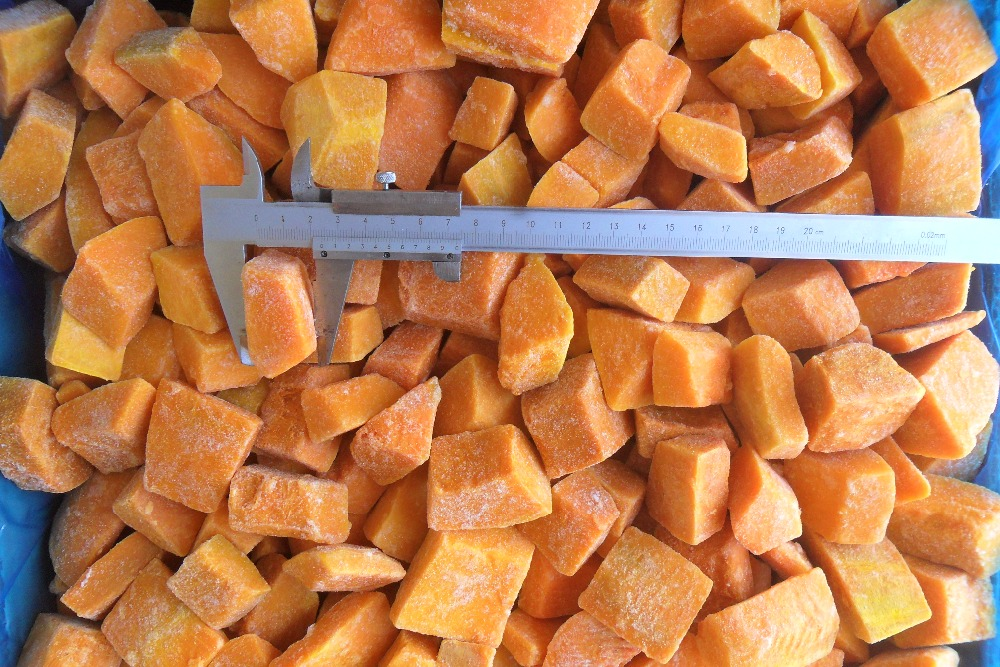 chinese frozen pumpkin cube for production