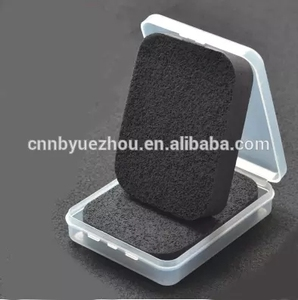 Facial Cleansing Face Makeup Wash Sponge Compressed Pad Powder Puff PVA Sponge Square Black Rounded Corners