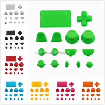 8 Colors Full Set Plastic Replacement R2 L2 R1 L1 Buttons Dpad Guide Button Touchpad Button Kit For PS4 Controller