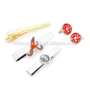 cheapest new design personalized stainless steel stamped gold plating novelty promotional souvenir gift craft metal tie clip