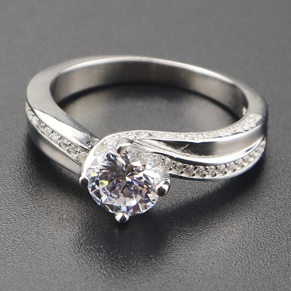 1 Ct T W Princess Cut Quad Diamond Past Present Future Ring In