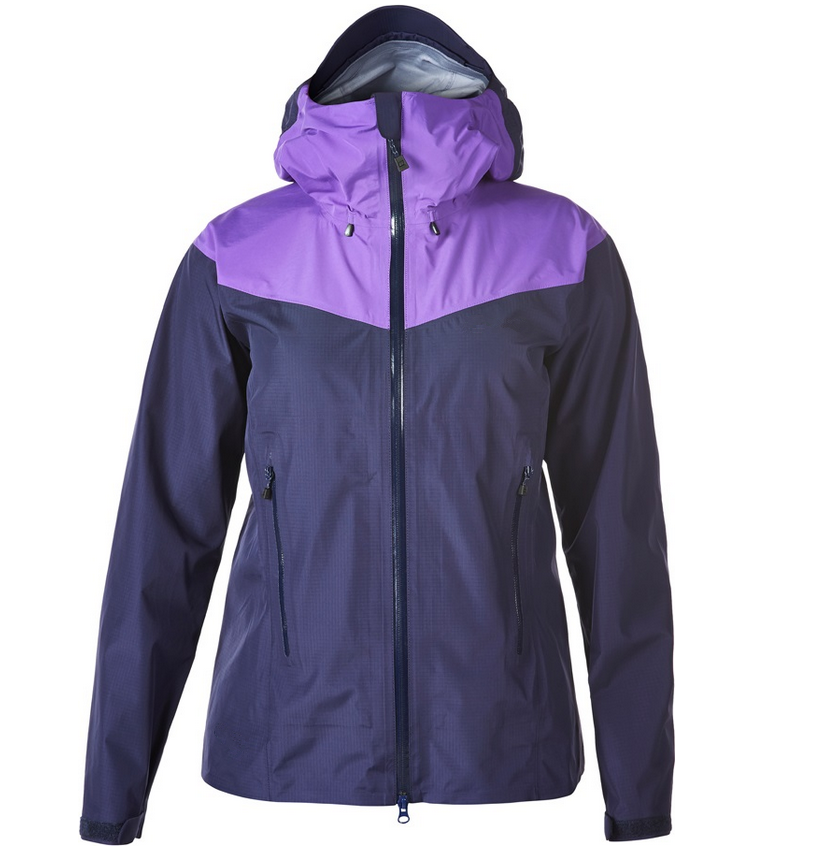 Fashionable windproof PU material rain jacket attached Hood with cap rope for women sports jacket