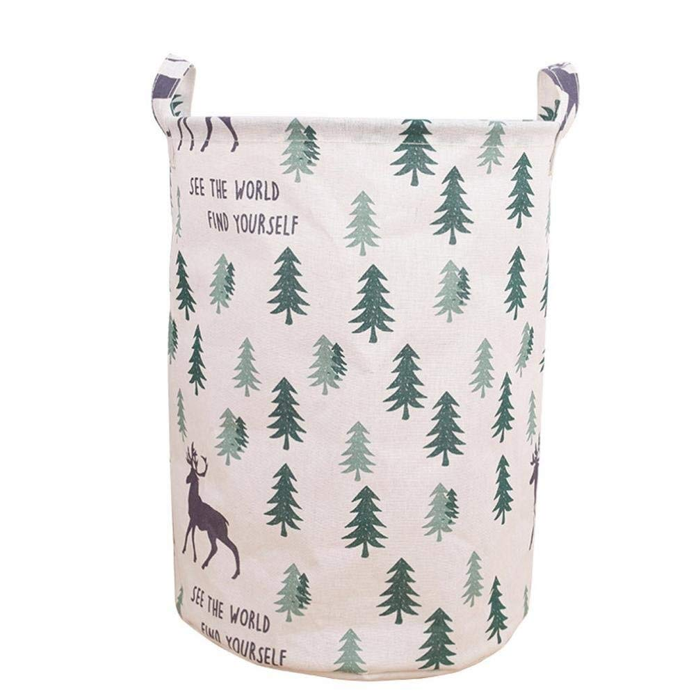 Hechun Dirty Clothes Basket Waterproof Canvas Sheets Laundry Colorful Basket Folding Box Home Storage (A)