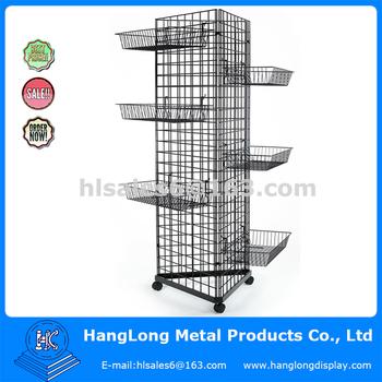 Triangular Wire Gridwall Display Floor Stand - Buy Retail Floor ...