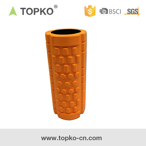 TOPKO high density closed cell EVA foam yoga roller for muscle massage use