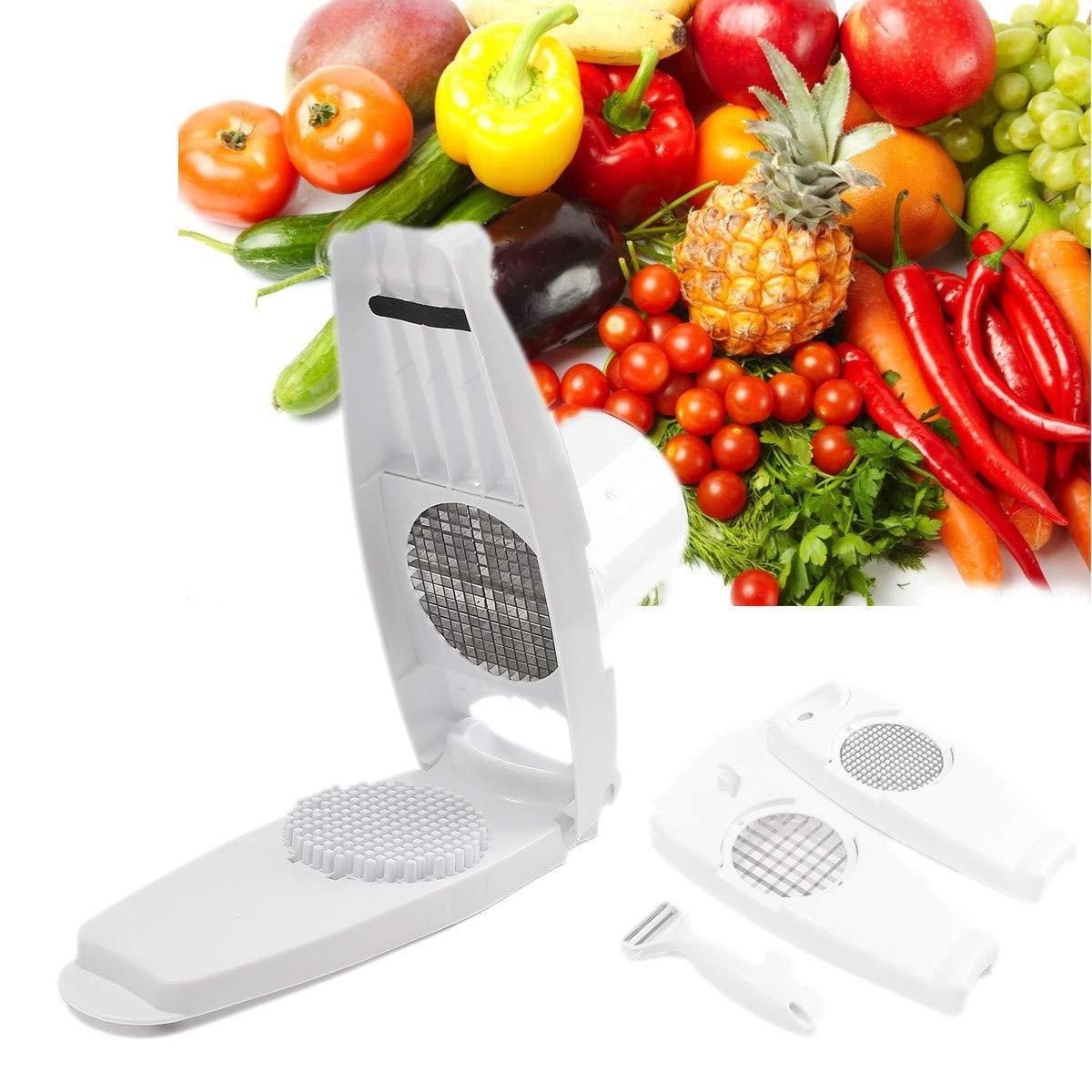 Super Slicer - Slicer Cut Fries Vegetable Salad Fruit Peeler Cutter Chopper Grater - Fruit Knife Vegetables Mandolin Clay Piece Cook Cooks 13 Works