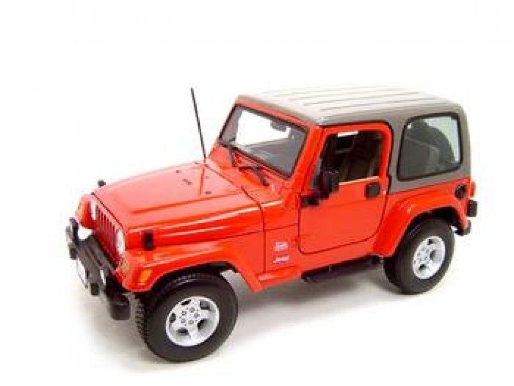 Jeep Wrangler Sahara Diecast Model Red 1:18 Die Cast Car