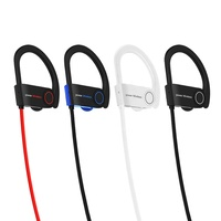 Mini smart bass headset headphones stereo bluetooth wireless neckband sport earphone