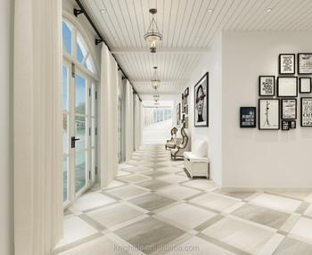 24x24 diversi tipi di granito look parete e pavimento di piastrelle