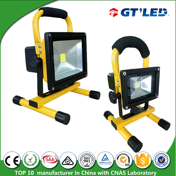 High quality 90lm/W squid fishing light 7.4V 4400mA portable luminaire lamp working 4hrs 10W squid fishing light