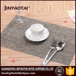 oilproof made in China silicone dining table mat vinyl rattan table food mat