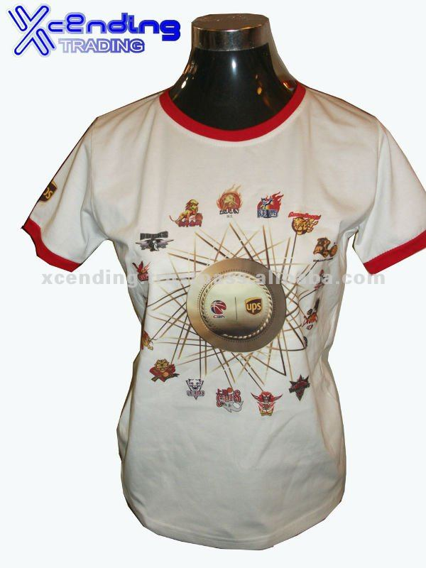 Xcending customized printing lady's cotton t shirt