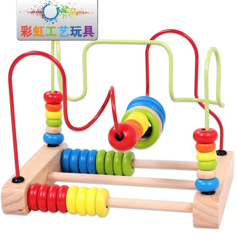 grand bureau boulier en bois jouets b b de s curit bande dessin e jeux de labyrinthe jouets. Black Bedroom Furniture Sets. Home Design Ideas