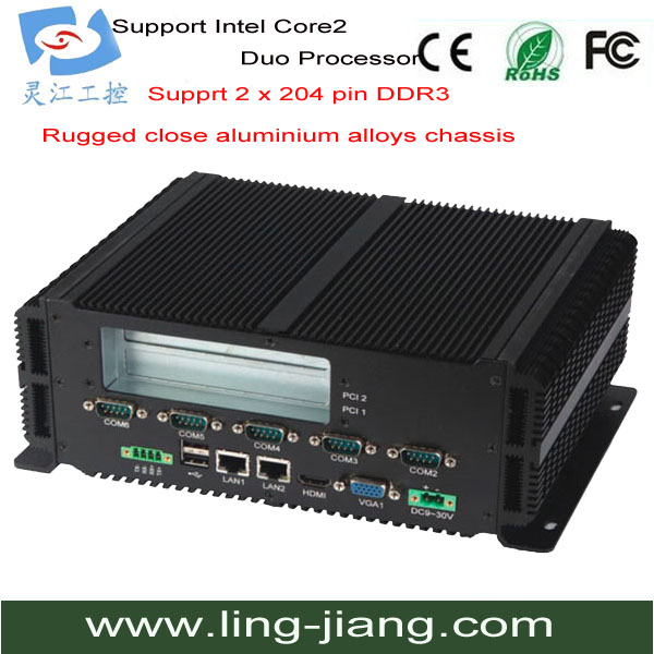 Rugged and Embedded Industrial PC Supports PCI/mPCI and SATA/mSATA (LBOX-GM45)