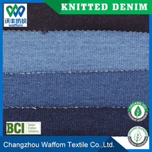 China cheap price Cotton / Spandex fleece knit denim fabric for jeans