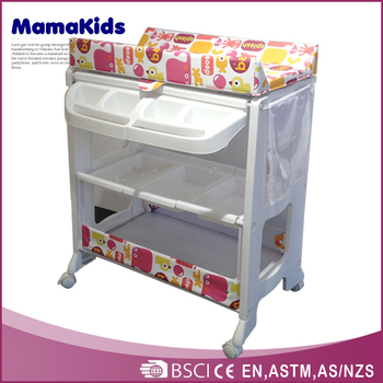 EN12221 Approved Baby Bath Tub Luxury Baby Changing Table With Bath