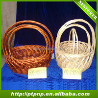China factory wholesale folk wicker basket with handles