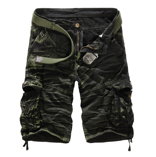 Men's Casual Camouflage Loose Cargo Shorts 2015 Summer Style New brand Men Large Size Multi-pocket Mlitary Short 8 colors