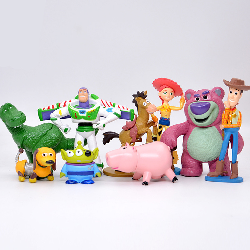 Hot Collection toy story action figure, Woody Buzz PVC action figure doll, Jessie Rex storia del giocattolo per il regalo