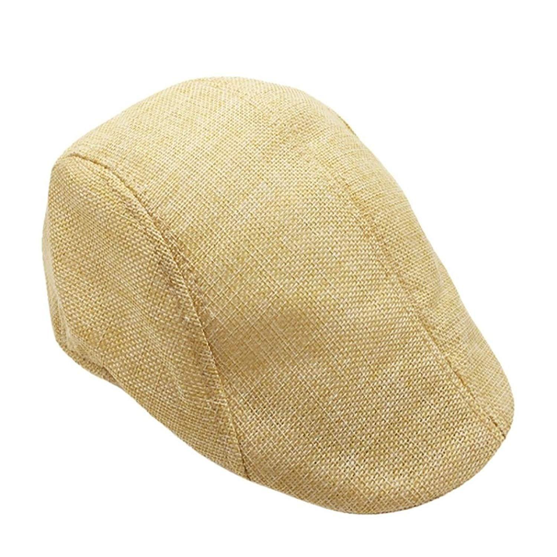 3ea3cabbd13 Get Quotations · Unisex Vintage Flat Hat Ivy Irish Hats Gatsby Newsboy Cap  Cabbie Hat Stretch