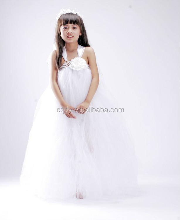 2014 Weiße Blume Mädchen Kleider Für Hochzeit Mädchen Partei Zu ...