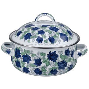 Enamel casserole set 10pcs 16/18/20/22/24cm with full decal